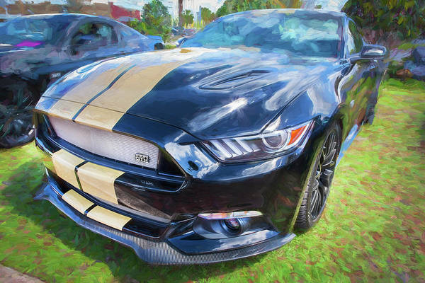 Photograph - 2016 Ford Hertz Shelby Mustang Gt-h 109 by Rich Franco