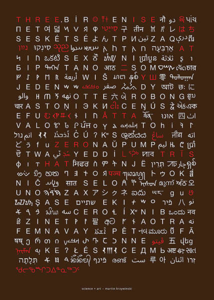 Wall Art - Digital Art - 223 Digits Of Pi In 102 Languages by Martin Krzywinski