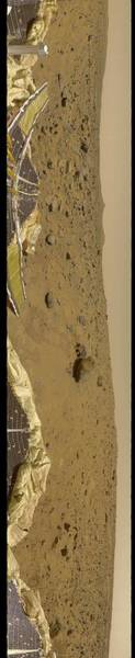 Wall Art - Painting - 360 Degree Panorama Mars Pathfinder Landing Site by Celestial Images