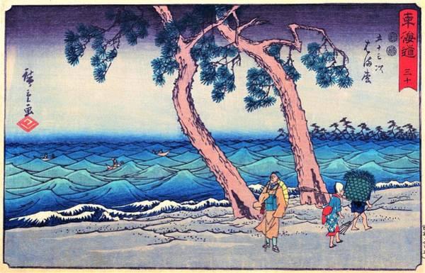 Wall Art - Painting - 53 Stations Of The Tokaido - Hamamatsu by Utagawa Hiroshige