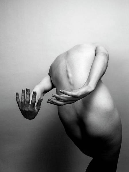 Buttocks Photograph - A Black And White Studio Shot Of A by Anthony Bradshaw