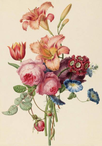 Wall Art - Painting - A Bouquet by Henriette Geertruida Knip