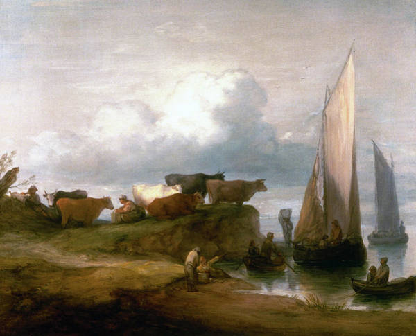 Painting - A Coastal Landscape   by Thomas Gainsborough