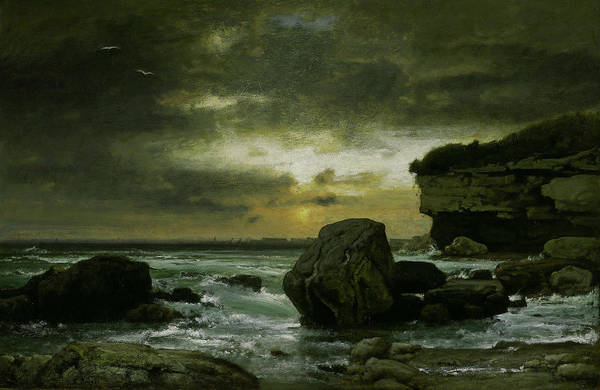 Wall Art - Painting - A Marine by George Inness