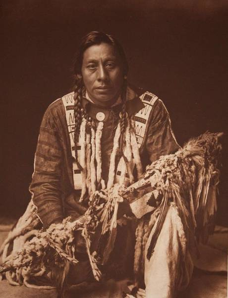 Painting - A Medicine Pipe  Piegan By Edward Sheriff Curtis by Celestial Images