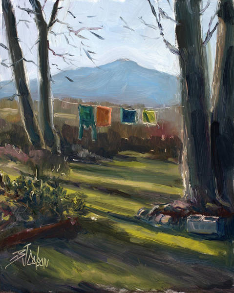 Long Shadow Painting - A Moment In Time by Billie Colson