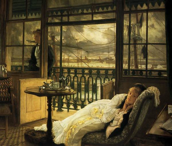 Wall Art - Painting - A Passing Storm by James Tissot