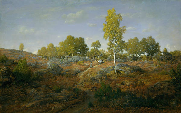 Painting - A Path Among The Rocks by Theodore Rousseau