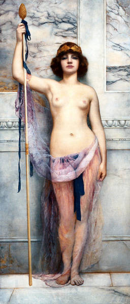 Painting - A Priestess 1893 by John William Godward