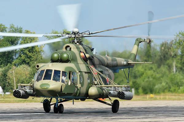 Photograph - A Russian Aerospace Forces Mi-8amtsh by Daniele Faccioli