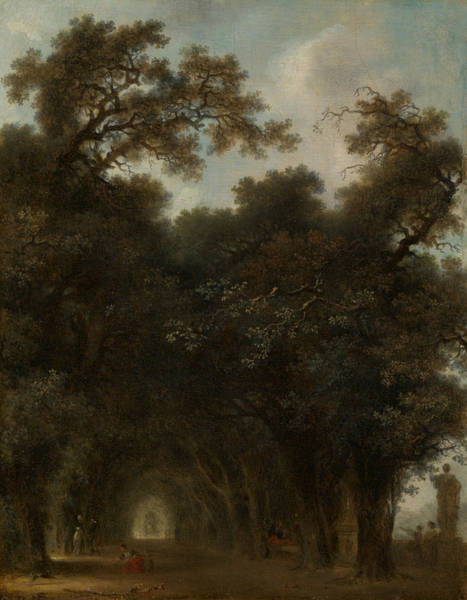 Painting - A Shaded Avenue by Jean-Honore Fragonard