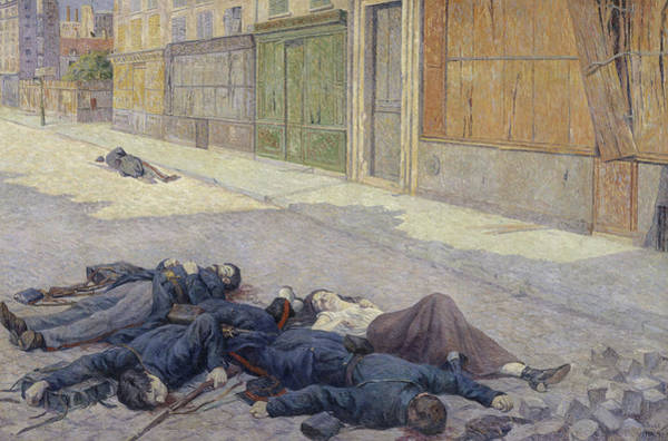 Wall Art - Painting - A Street In Paris In May 1871 by Maximilien Luce