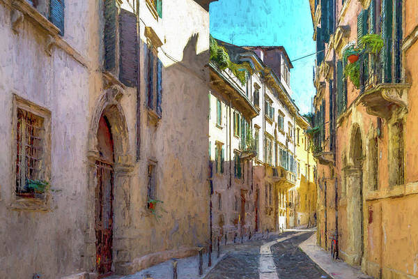 Wall Art - Photograph - A Street In Verona by W Chris Fooshee