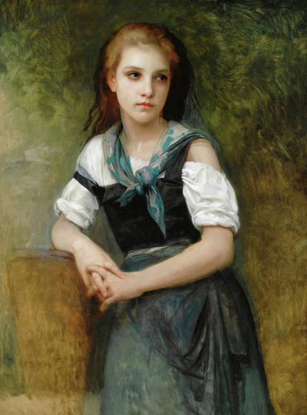 Wall Art - Painting - A Study For The Secret by William Bouguereau