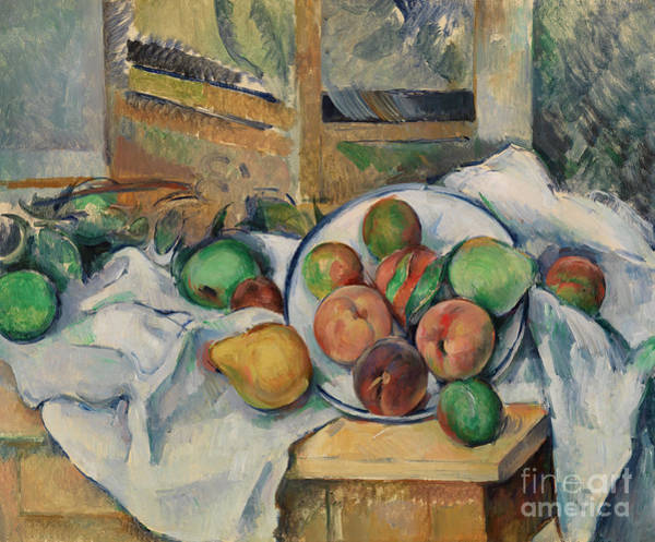 Wall Art - Painting - A Table Corner by Paul Cezanne