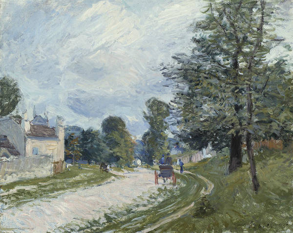 Wall Art - Painting - A Turn In The Road by Alfred Sisley