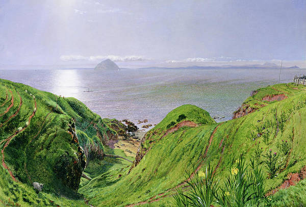 Bells Painting - A View Of Ailsa Craig And The Isle Of Arran by William Bell Scott