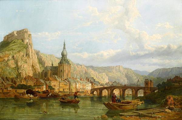 Wall Art - Painting - A View Of Dinant by George Clarkson Stanfield