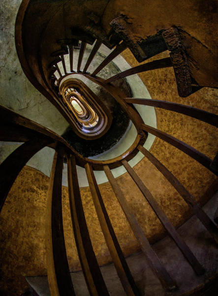 Wall Art - Photograph - Abandoned Spiral Staircase by Jaroslaw Blaminsky