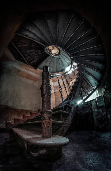 Wall Art - Photograph - Abandoned Staircase  by Jaroslaw Blaminsky