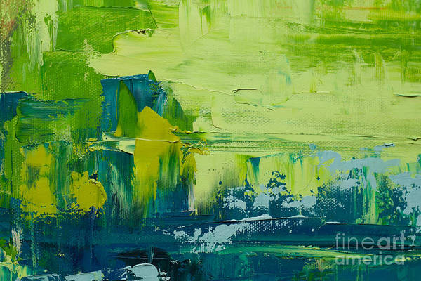 Digital Photograph - Abstract Art  Background. Oil Painting by Sweet Art