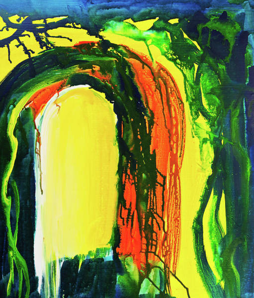 Natural Arch Digital Art - Abstract Background by Balticboy