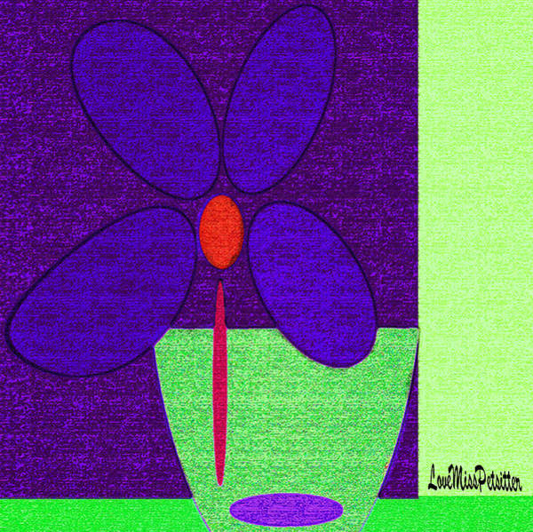 Digital Art - Abstract Floral Art 385 by Miss Pet Sitter