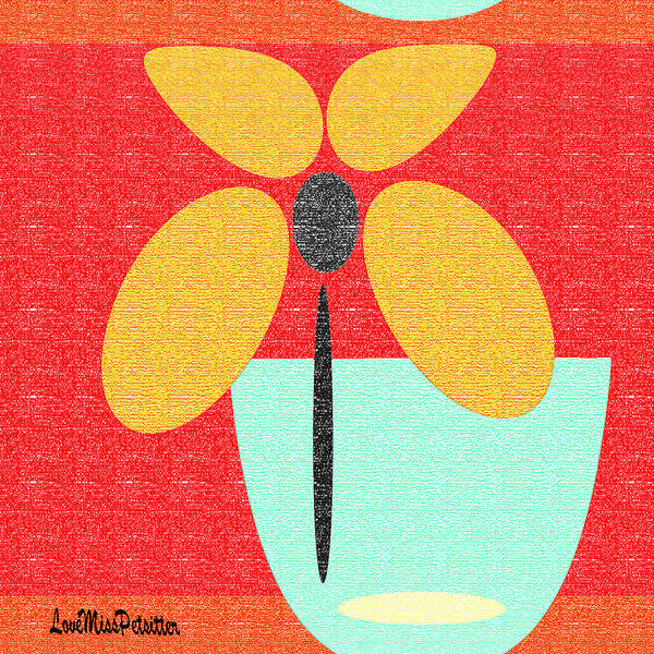 Digital Art - Abstract Floral Art 387 by Miss Pet Sitter