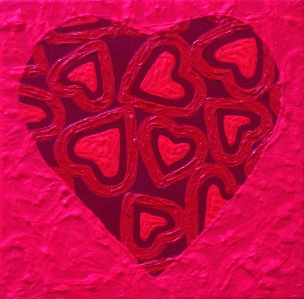 Wall Art - Painting - abstract Heart by John  Nolan