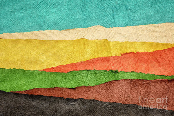 Photograph - Abstract Landscape Created With Handmade Paper by Marek Uliasz