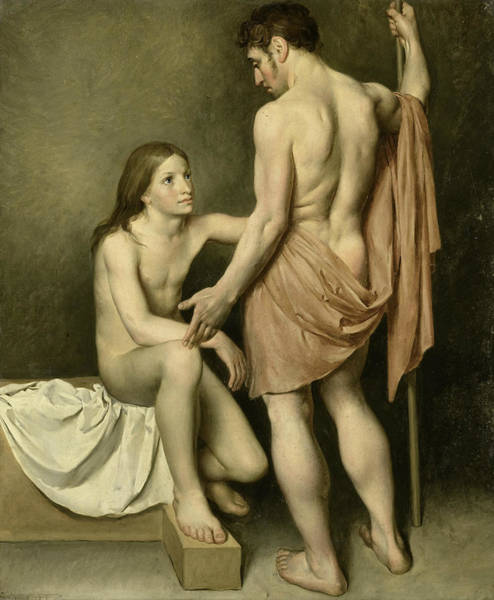Painting - Academy Study Of A Man And A Woman by Woutherus Mol