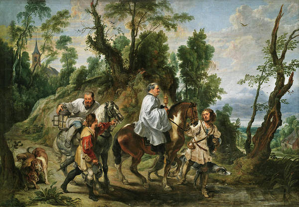 Wall Art - Painting - Act Of Devotion By Rudolf I Of Habsburg by Peter Paul Rubens