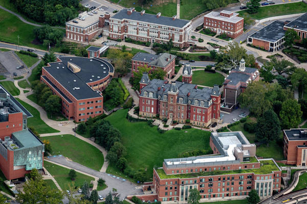Photograph - Aerial Of Woodburn Hall Downtown Campus by Dan Friend