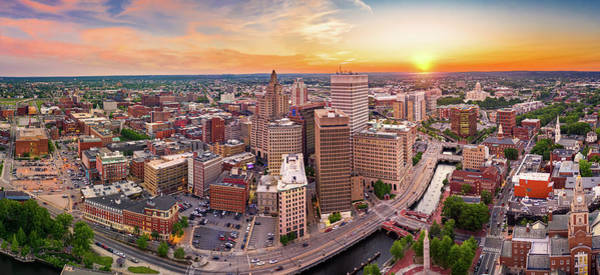 Photograph - Aerial Panorama Of Providence, Rhode Island by Mihai Andritoiu