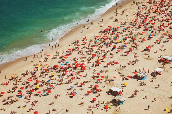 Brazil Photograph - Aerial View Of Leblon Beach In Rio De by Gonzalo Azumendi