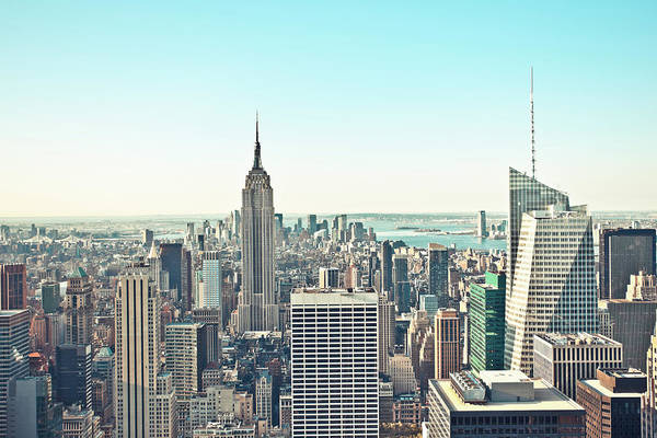 Looking Down Photograph - Aerial View Of Manhattan, New York City by Pawel.gaul