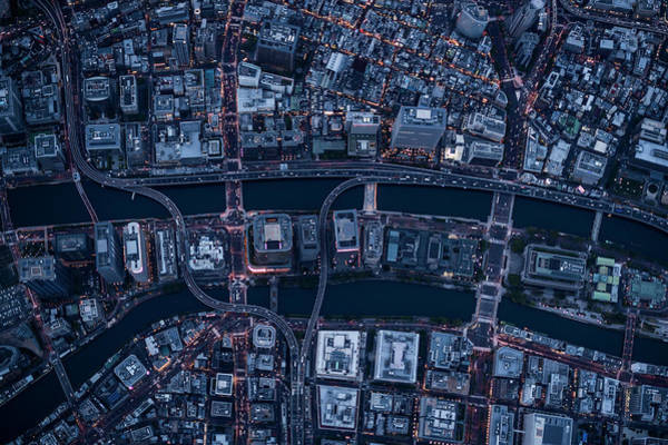 Photograph - Aerial View Of Osaka, Japan by Michael H
