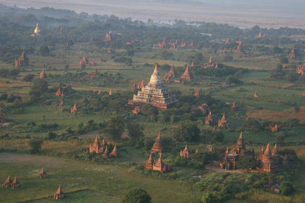Photograph - Aerial View Of Shwesandaw Pagoda Bagan by Joe & Clair Carnegie / Libyan Soup