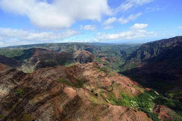 Photograph - Aerial View Of Waimea Canyon, Kauai by Ryan Rossotto