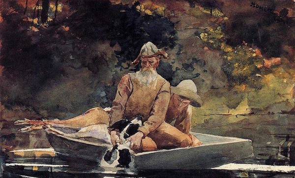 Wall Art - Painting - After The Hunt Winslow Homer by Celestial Images