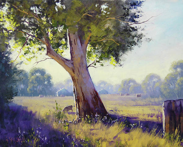 Wall Art - Painting - Afternoon Light Grazing by Graham Gercken