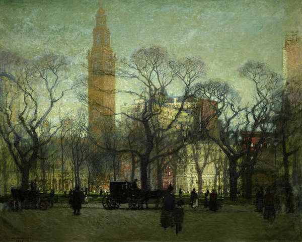 Wall Art - Painting - Afternoon Madison Square by Paul Cornoyer