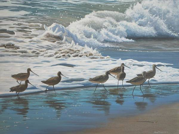 Painting - Afternoon Surf by Peter Mathios