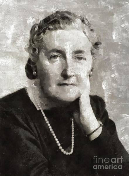 Wall Art - Painting - Agatha Christie, Literary Legend by Mary Bassett