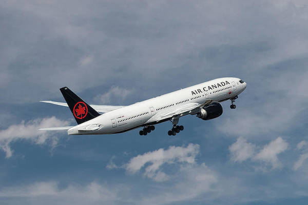 Wall Art - Mixed Media - Air Canada Boeing 777-233 Lr by Smart Aviation