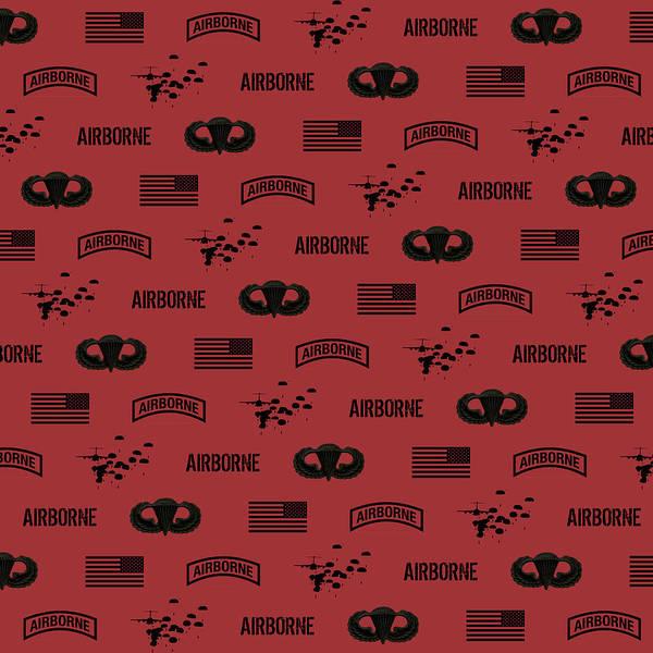 Wall Art - Digital Art - Airborne Pattern Red by Jared Davies