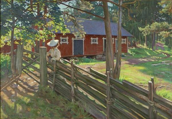 Wall Art - Painting - Alarik Munsterhjelm  1873-1944  Yard by Celestial Images