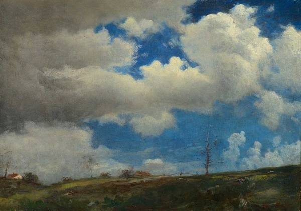 Wall Art - Painting - Albert Bierstadt  1830-1902  Incoming Clouds by Celestial Images