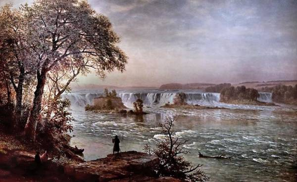 Wall Art - Painting - Albert Bierstadt 1830-1902 New York Les Chutes De Saint Antoine The Falls Of Saint Anthony Ca 1885 by Celestial Images