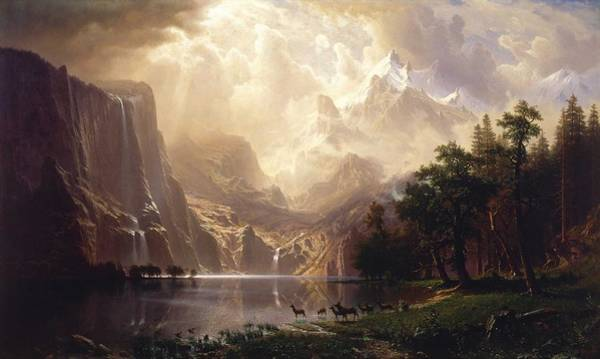Wall Art - Painting - Albert Bierstadt - Among The Sierra Nevada, California by Celestial Images